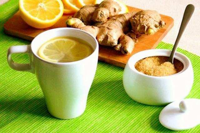 Hot lemon drink