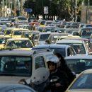 In traffic summer heat