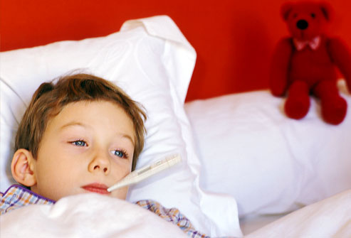 Keep cool with a high fever and febrile seizures in infants