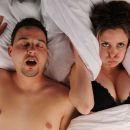 What helps from snoring